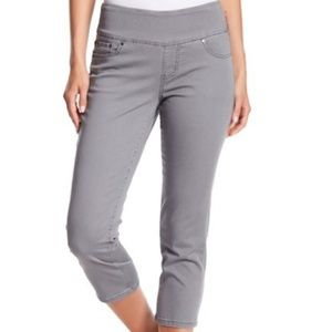 Penny Twill Straight Crop Pull-On Jeggings